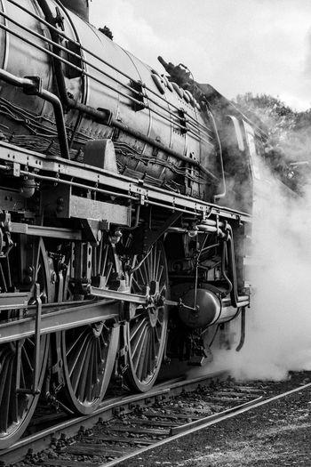 Steamlocomotive detail blackandwhite