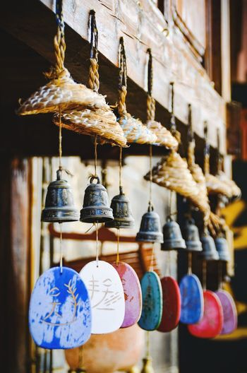 Wind Chimes Street Streetphotography Handcraft Lijiang Focus Village Colorful Colors Bell Travel Decorative Hanging Choice No People Variation Large Group Of Objects Market Art And Craft Decoration Craft Multi Colored Day