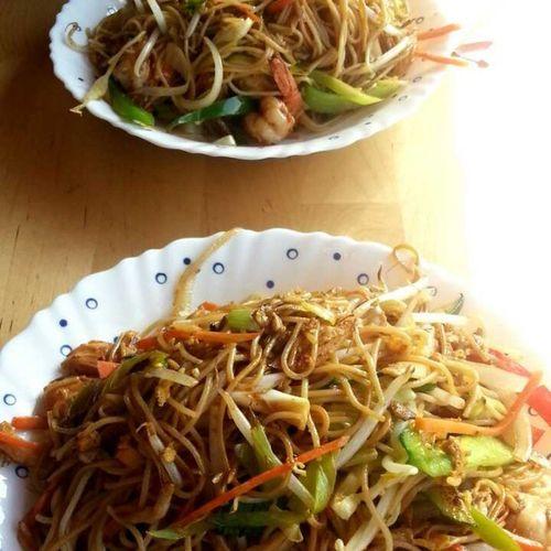 Heerlijke noedels :D Food Noedels Wok Lekker