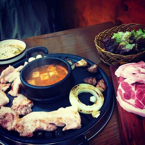 점심 만남 삼겹살 돼지한마리 흑석동
