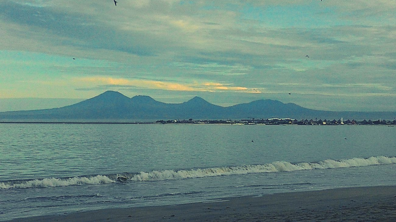 Morning at muaya beach jimbaran bali