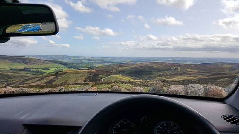 Road Trip - It's nice to park up, chill and just take in the view. 😮😎 Car Perspective Driver Park Peak Viewpoint Window Textures WOW Spring Sunshine Framing Beautiful Sky Nature Cairnomount Aberdeenshire Landscape POTD Photooftheday Visitaberdeenshire Visitabdn VisitScotland My Commute Feel The Journey