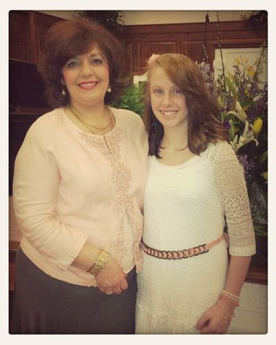 Easter Sunday. Pastor's Wife, Brenda. (:
