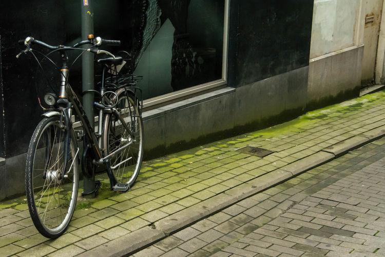 Bicycle wheel at night