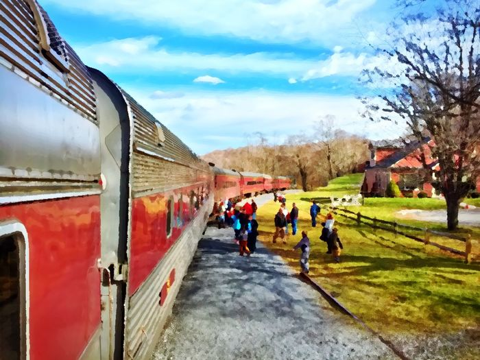 A quick stop in the country at the Frostburg Train Station along the Western Maryland Scenic Railroad. Painterly Train Train Station Rural Scenes Taking Photos IPhoneography Ips
