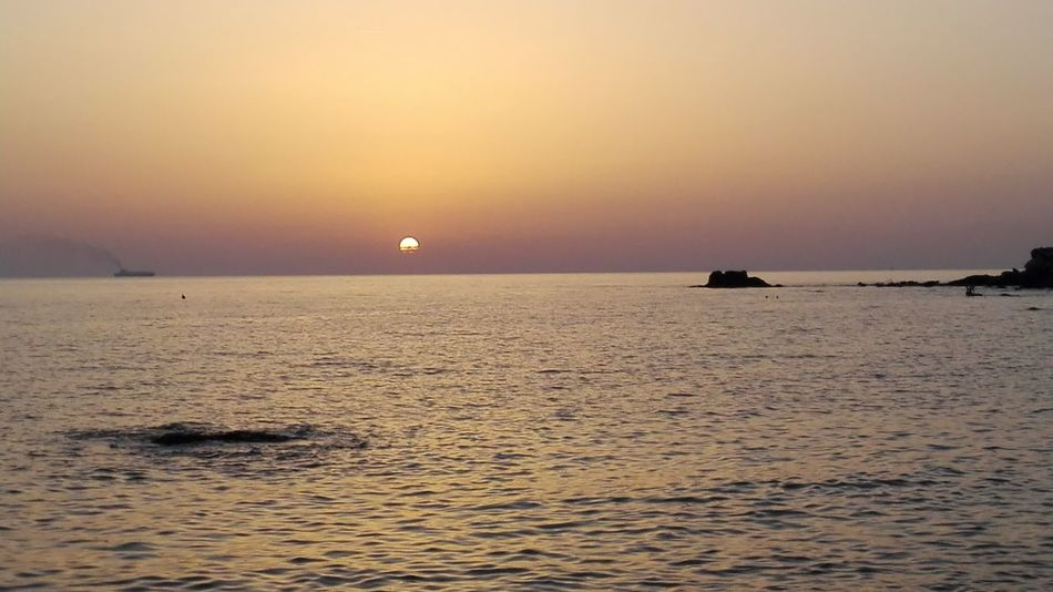 Sunset Sea Nature Horizon Over Water No People Tranquility Reflection Outdoors Livorno Ferie Sole Wonderful