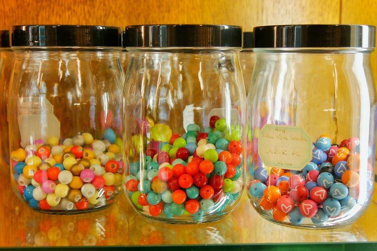 Various flowers in jar
