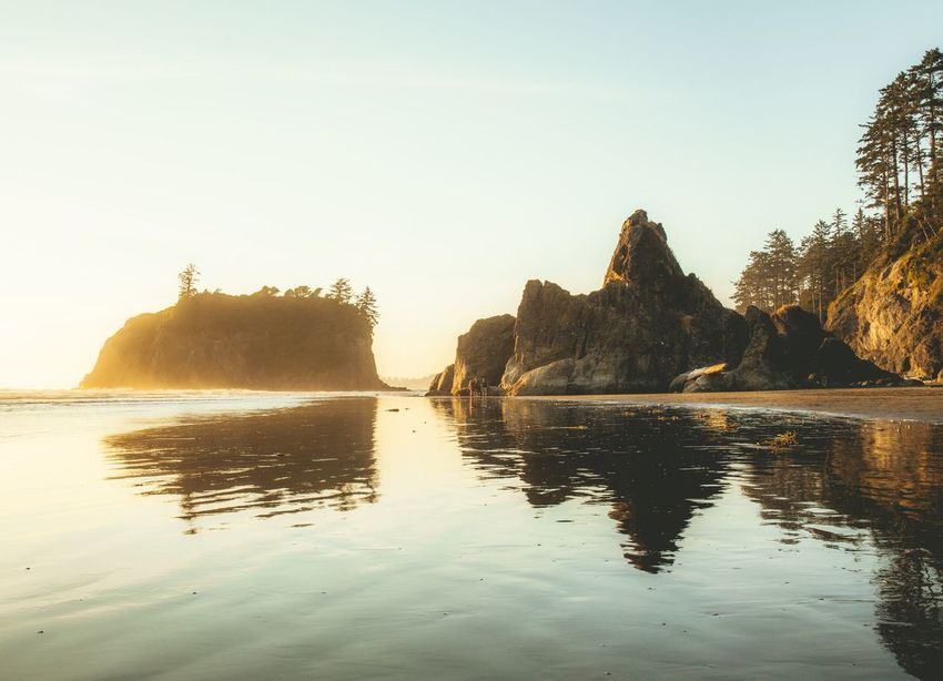 Sunset at Ruby Beach summer 2017 Washington Road Trip National Park Naturephotography Nature Photography Nature_collection EyeEm Nature Lover EyeEmNewHere EyeEm Nature Lover EyeEm Best Shots Landscape Photography Landscapes Landscape_photography Landscape Sunsetporn Sunset Silhouettes Sunset_collection Sunset Water Nature Beauty In Nature Sea Rock - Object No People Reflection Beach Outdoors Tranquil Scene Tranquility Day