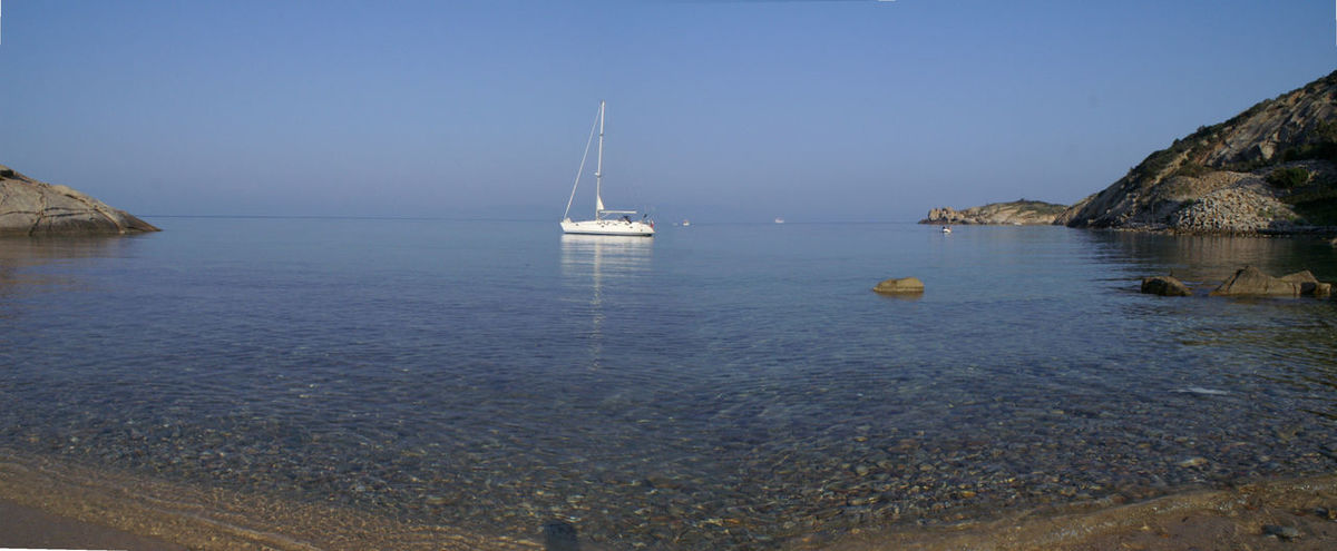 Cala all'isola del Giglio Barcas Blue Cala Horizon Over Water Isola Del Giglio Mare Nautical Vessel No People Sail Boat Sailboat Sea Travel Water