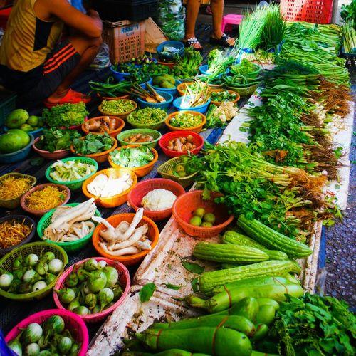 At the local market Sattahip Thailand Freshness For Sale Local Market Thai Market Morning Market Variation Choice Abundance Food Display Market Multi Colored Fresh Vegetables Fresh Veggies Vegetables Veggies Freshvegetables Freshveggies Vegetable Market Fresh Fresh Produce Fresh Greens
