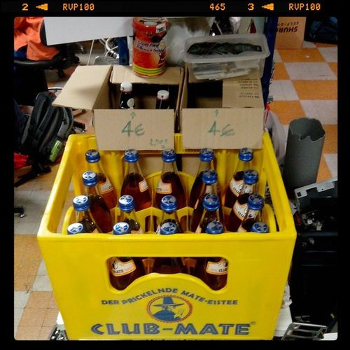 Clubmate Parisis BlackLoop SquatConf HackerSpace HappyHacking