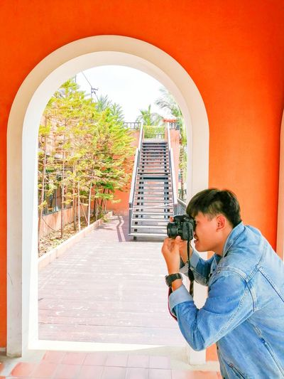 Peerapong Photo men Technology Teenager Childhood Arch Photographing Photographer