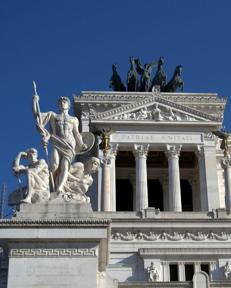 Altar Of The Fatherland Architectural Column City De Monument Particular Rome Sculpture Statue Venice Place