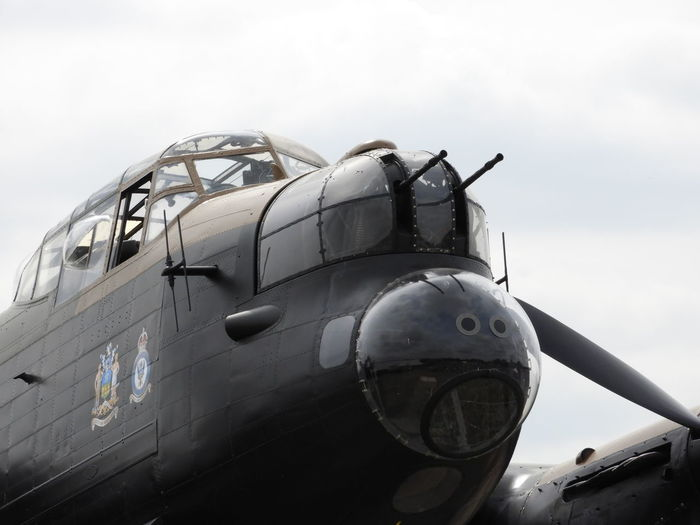 """Avro lancaster NX611 """"Just Jane"""" Avro Lancaster Bomber Command Copy Space EyeEm Selects Just Jane WWII Planes Aerospace Industry Air Force Air Vehicle Airplane Army Close-up Dambusters Day Fighter Plane Land Vehicle Military Military Airplane Mode Of Transportation No People Outdoors Plane Propeller Sky Transportation"""