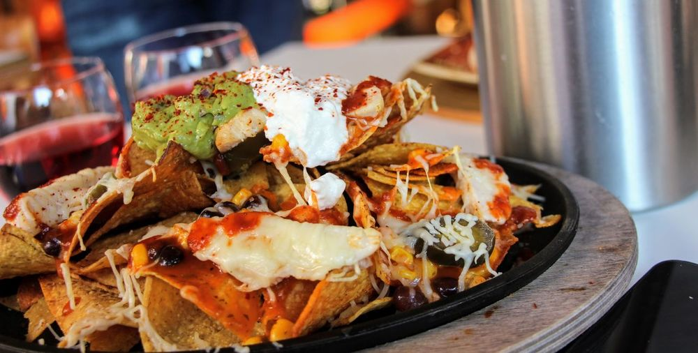 Mexican Food, Nachos Close-up Day Daylight Focus On Foreground Food Food And Drink Freshness Guacamole Healthy Eating Indoors  Mexican Food No People Plate Ready-to-eat Restaurant Seafood Serving Size Soured Cream