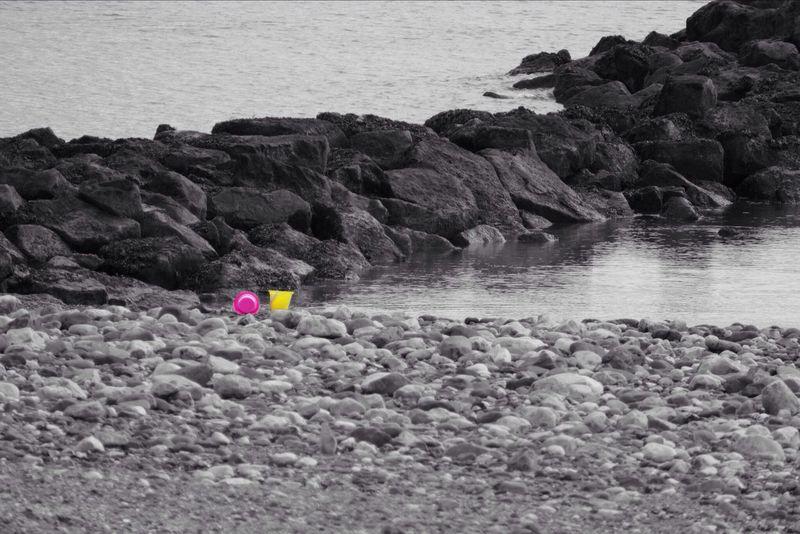Colour Splash Seaside Seaside_collection Colour Rhos On Sea North Wales Buckets Lumix LUMIX DMC FZ1000