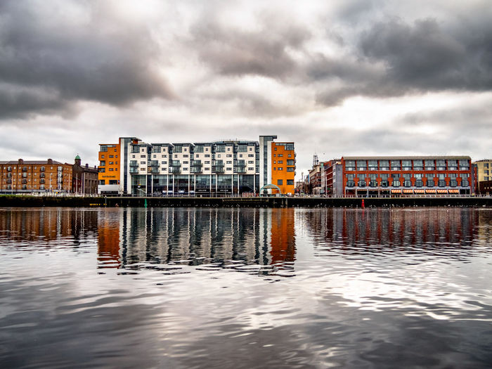Architecture Building Exterior Built Structure City Cityscape Cloud - Sky Day Howley's Quay Ireland Limerick City Nature No People Outdoors Reflection River River Shannon Sky Travel Destinations Urban Skyline Water Waterfront