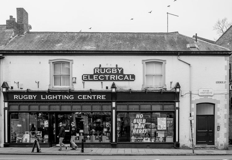 Rugby Electrical, Church Street, Rugby, Warwickshire Architecture Black And White Monochrome Rugbytown Warwickshire FUJIFILM X-T10 Rugby Shops
