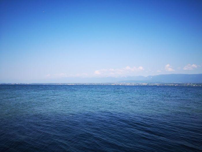 Water Sea Clear Sky Blue Beach Archipelago Sailing Ship Rippled Sky Horizon Over Water