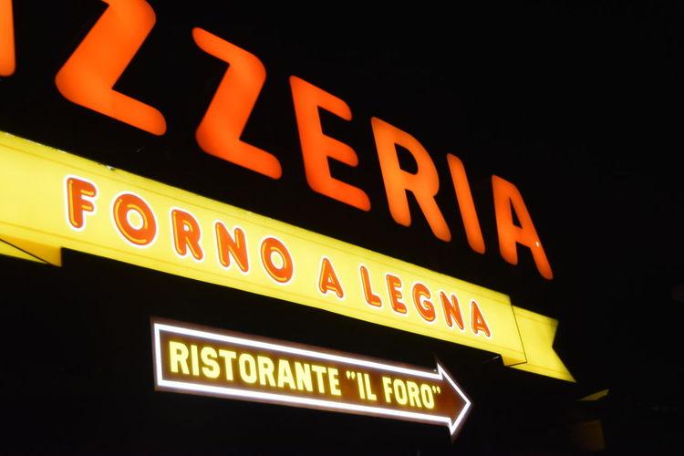 Text Communication Forno A Legna Lighting Equipment Neon Neon Sign Pizzeria Ristorante Forno A Legna