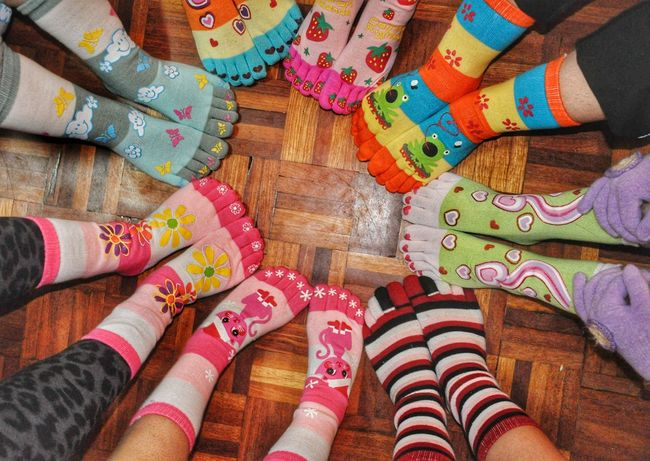 Group of legs Stockings Colorfull Cold Socks Legsselfie Legs Foot Group Gathering Family❤ Fashion Stories This Is Family