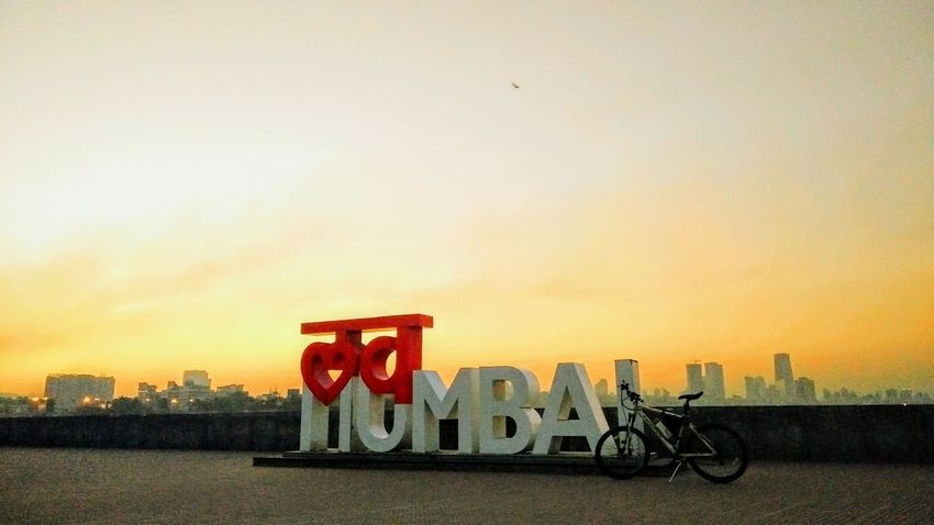 City Travel Destinations Sunset No People Outdoors Sky Cityscape Day Bicycle City Bycicle Mumbai MumbaiDiaries Eyeem Mumbai Eyeem Mumbai Sunrise EyeEm Nature Lover EyeEm Best Shots My Year My View Open Edit Travel India City Life City