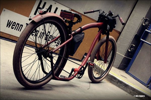Deadpool Bike Bicycle Fahrrad Fahrräder Fahrradfahren Drecknecks Cruiser Costumbike Hamburgcity No People