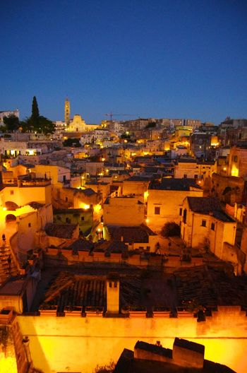 Architecture Building Exterior Built Structure City Cityscape Italy Matera Outdoors Residential Building Sky