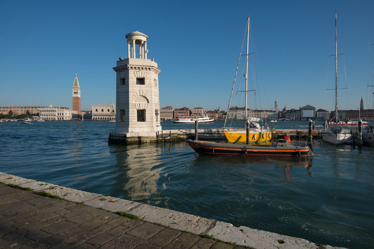 A wide angle view of Venice from the Isle of San Giorgio Holiday In Italy Venice, Italy Landscape San Marco Bell Tower Sea Sea And Sky Tourism Tourism Destination Wide Angle View