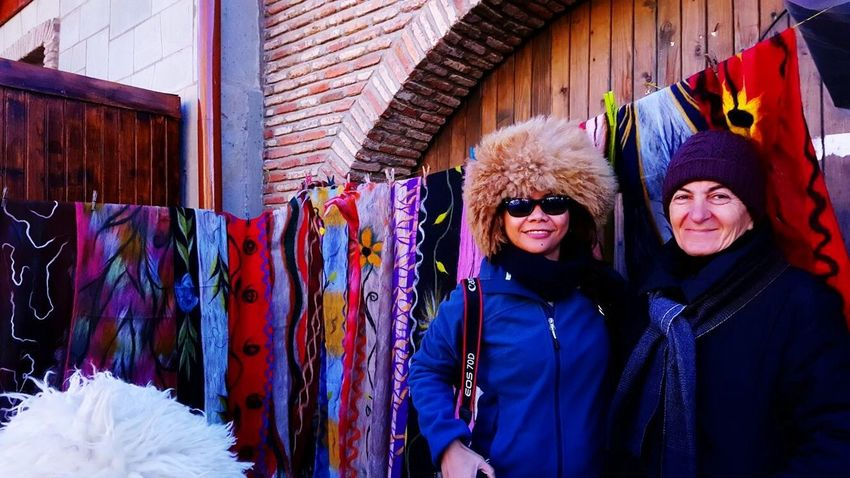 Connected By Travel Women Multi Colored Smiling Winter Warm Clothing Outdoors Arts Culture And Entertainment Portrait Close-up Adults Only Adult Only Women Day Holiday - Event Travelphotography Georgia Country