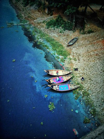 Beautiful Bangladesh Colourful boat colour of life Bangladesh Dhaka Colourful Boat BeautifulBANGLADESH EyeEmNewHere High Angle View Water Day No People Outdoors Close-up Press For Progress