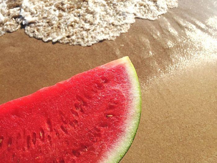 [ WM ] Fruit of the summer ✌🏼️ Watermelon Fruit Summertime Summer Summer Views Beach Life Is A Beach Being A Beach Bum Enjoying Life Food