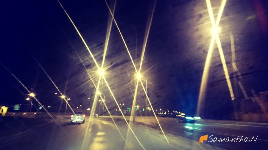 Lights Ontheroad Justhadtotryit Transportation InTheCar:) Love To Take Photos ❤ Outdoors Night Sky No People SeeTheWorldThroughMyEyes Randomplace