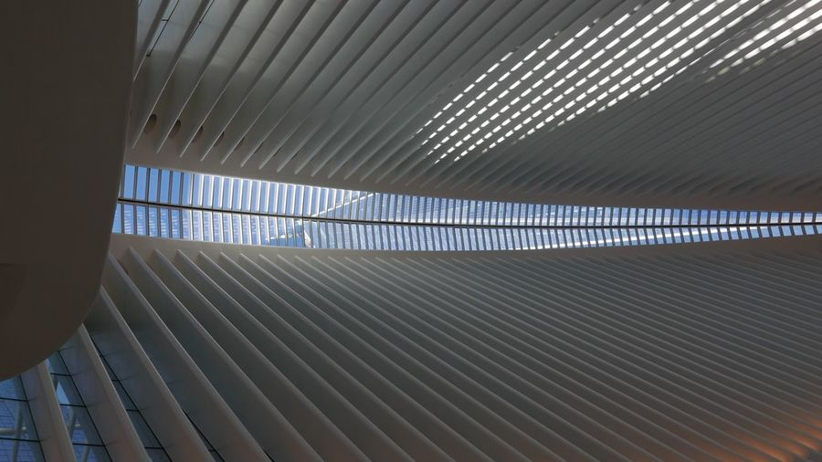 Streeetphotography NYC Unedited Light And Shadow Urban Lines EyeEm Selects Pattern Ceiling Architecture Built Structure Indoors  Textured  Full Frame Day Modern Close-up Corrugated Iron