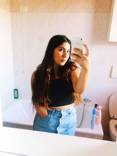 EyeEm Selects One Person Long Hair Hairstyle Indoors  Hair Real People Bathroom Home