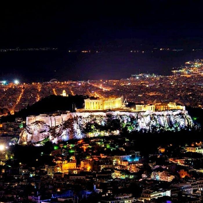 Cities At Night Athens, Greece Athens City Nightphotography Nigthlight Nightview Nightshot Athens By Night Likavitos