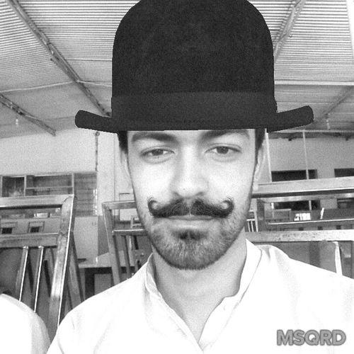 Me Selfie Hat&moustache Msqrd