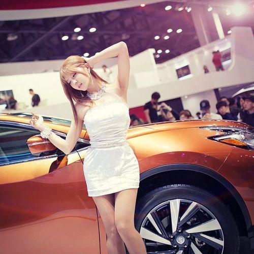 허윤미 모델 모터쇼 쉐보레 닛산 촬영 사진 레이싱모델 킨텍스 Motorshow Model Photo