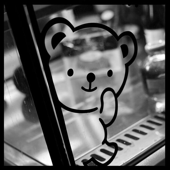 Bear Hi! B&w Photo Mono Photo @korea seoul jayang-dong @Canon eos 100d / 40mm f2.8