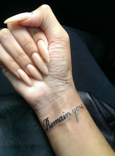 Remain you Remain You Nails Tattoo