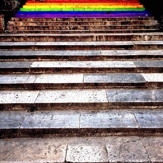 Statement Blue City Cityscape Cityscapes Close-up Colors Diminishing Perspective Empty Freedom Illuminated Lgbt LGBT Parade Lgbt Pride LGBT Rainbows Love Night No People Outdoors Rainbow Rights Steps Streetphotography Summer The Way Forward Urban