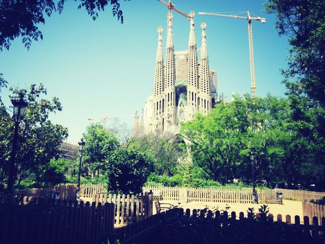 Barcelona Segrada Familia City Art