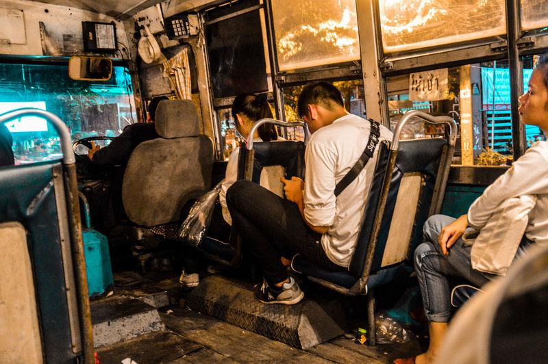 People In An Obsolete Bus