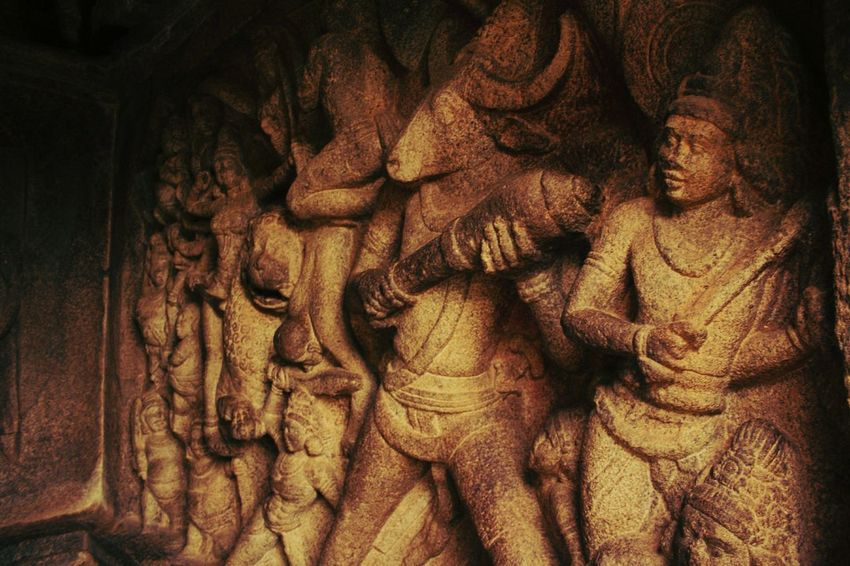 The ancient army Stoneage Carvings In Stone Art Historical No People Full Frame Backgrounds Close-up Outdoors Day