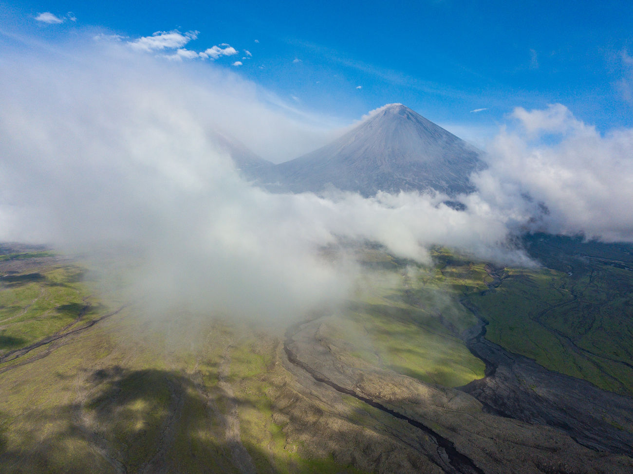 landscape, mountain, volcanic landscape, volcano, physical geography