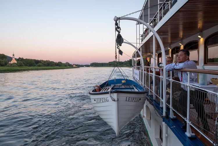 Afternoon Dinner Dresden German Relaxing Row Boat Boat Cruise Dusk Elbe Late Life Raft Night River Steam Ship Steamship