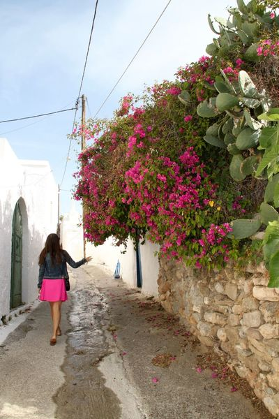 Greece Architecture Back View Of Girl Beautiful Bougainvillea Building Exterior Flower Greece Greece Street Growth Lachania Narrow Street Nature One Person Pink Pink Color Plant Real People Rhodes Ródos Street Travel Traveling Walking Around Young Women Lost In The Landscape Walking Architecture Full Length Built Structure