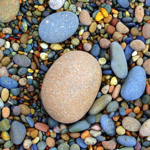 Pebble Stone - Object Beach Shore Large Group Of Objects Abundance Vibrant Color Stone Nature Outdoors Smooth Pebble Beach