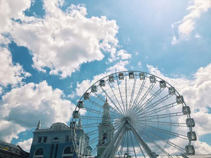 Amusement Park Sky Ferris Wheel Cloud - Sky Arts Culture And Entertainment Built Structure Architecture Day Travel Destinations Building Travel Circle Nature