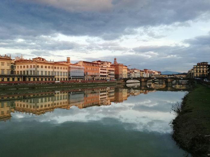 😊 Cityscape City Water Reflection Old Town Architecture Building Exterior Town No People Urban Skyline Sunset Bsm_shots Florence EyeEm Selects EyeEmNewHere